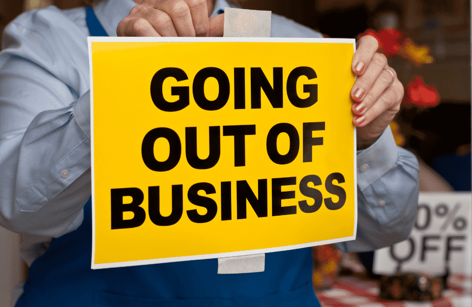 Companies Go Out Of Business Due To 2021 Recession