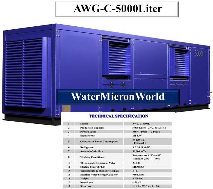 AWG MODELS 15L to 5000L